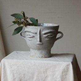 Alexa ceramic bowl with a face