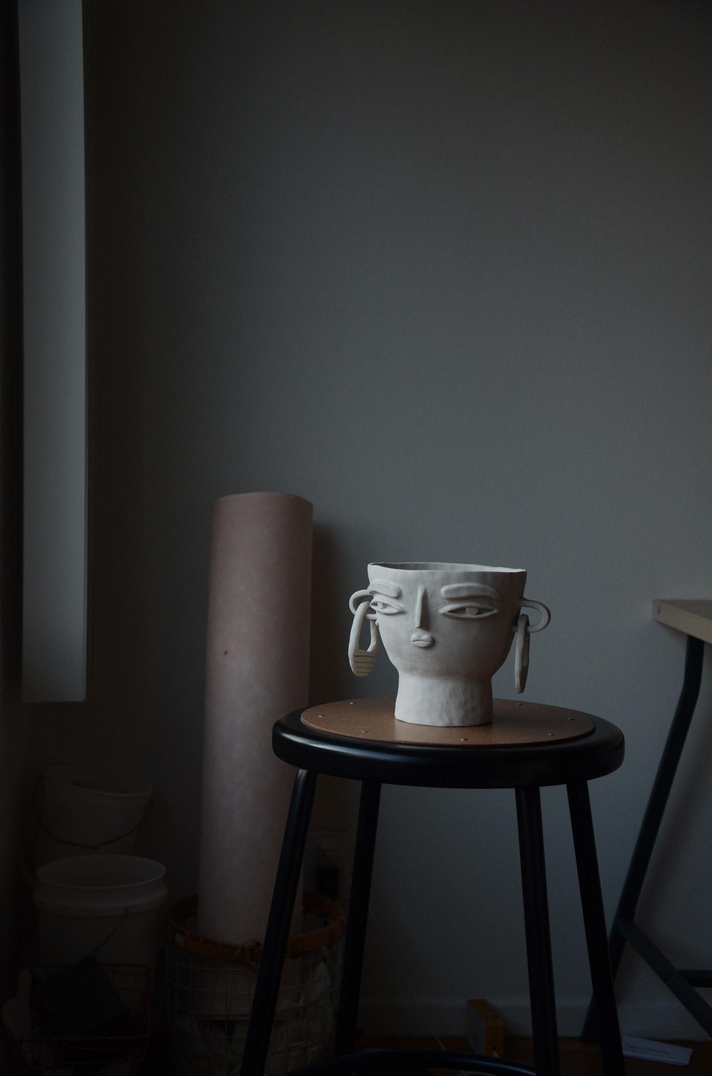 Ceramic vase photography