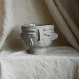 Diana ceramic bowl with a face