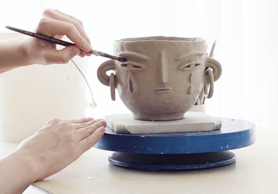 Miri Orenstein ceramic studio process