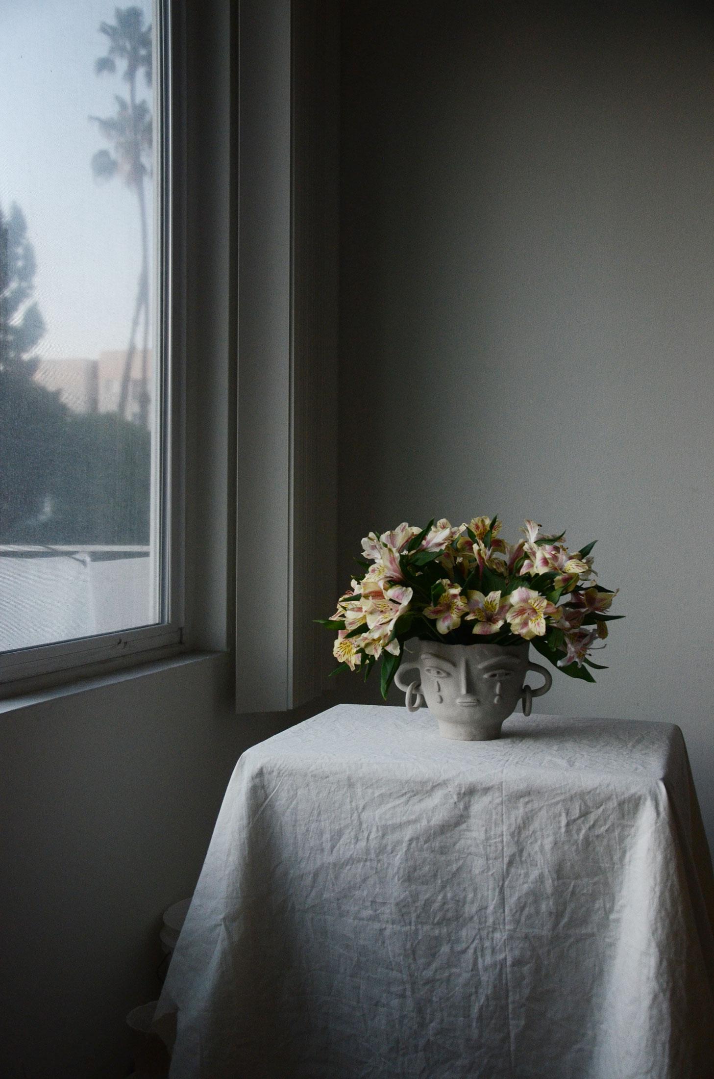 Flower vase head by Miri Orenstein