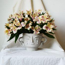 Mila ceramic face by Miri Orenstein